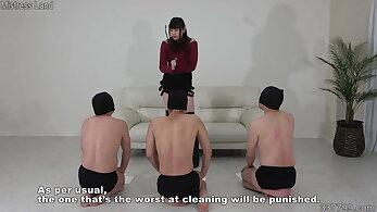 Japanese Mistress Akane and Her Multiple Servants